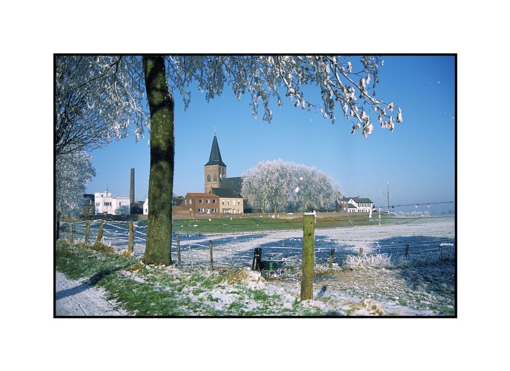 Stadtansicht im Winter